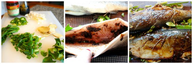 Asian Style Oven Steamed Trout