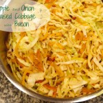 Apple and Onion Braised Cabbage with Bacon