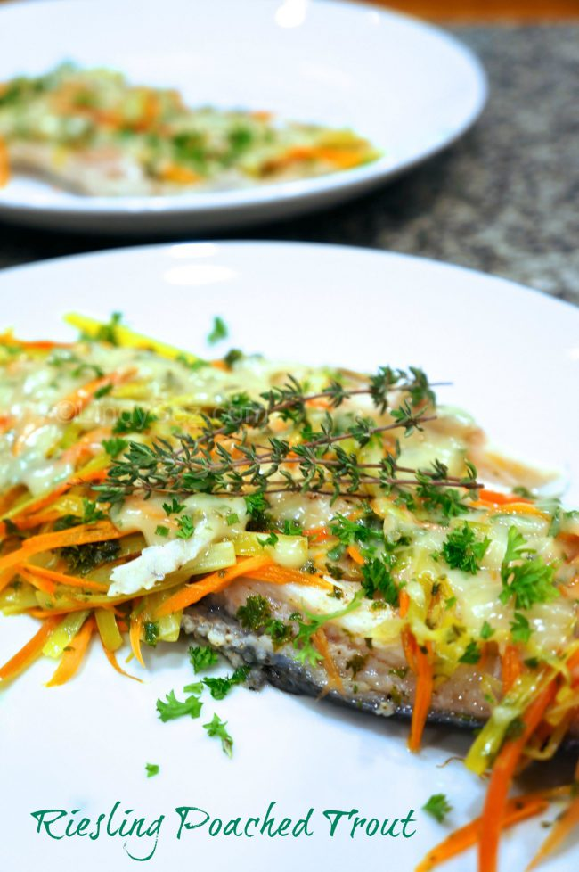 Riesling Poached Trout m