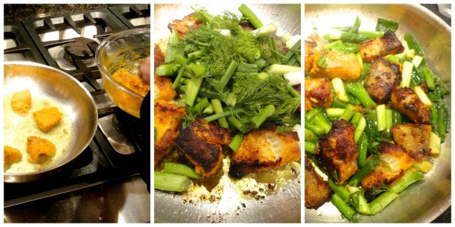 Vietnamese Turmeric Marinated Fish with Noodles and Herbs c2