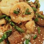 Beef Scallop Stir Fry