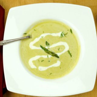 chilled asparagus soup with with