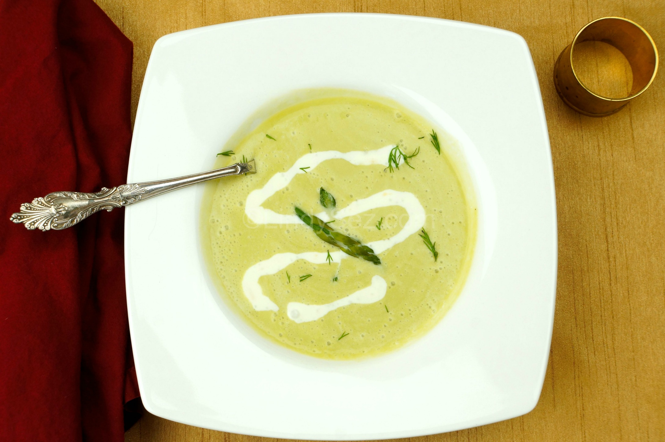 Chilled Asparagus Soup with - LindySez | Recipes, Tips, Blog