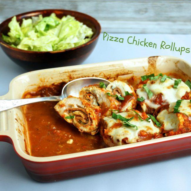 Pizza Chicken Rollups m