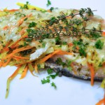 Riesling Poached Trout