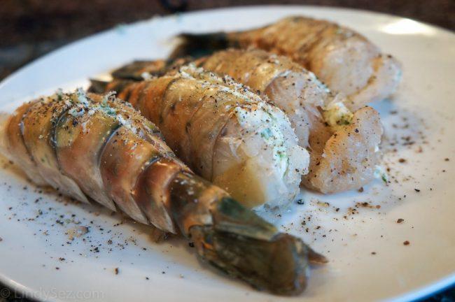 BBQ Shrimp Scampi with Garlic Spaghatti
