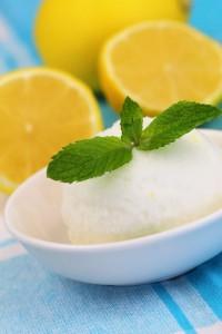 Limoncello Mint Sorbet vertical shot
