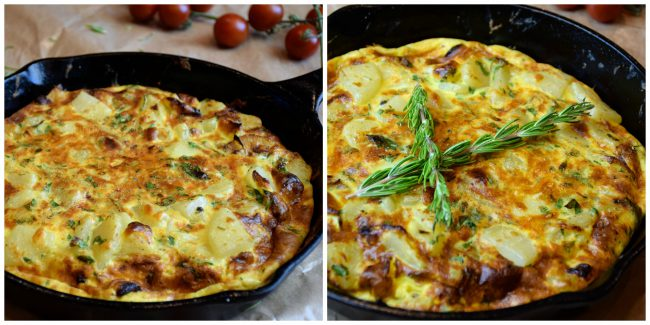 Spanish Tortilla-my way in pan