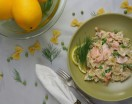 Lemony Smoked Salmon Pasta with Peas