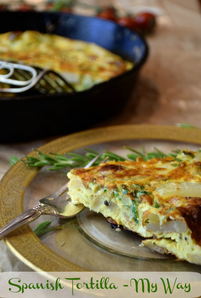 Spanish Tortilla-my way on a plate
