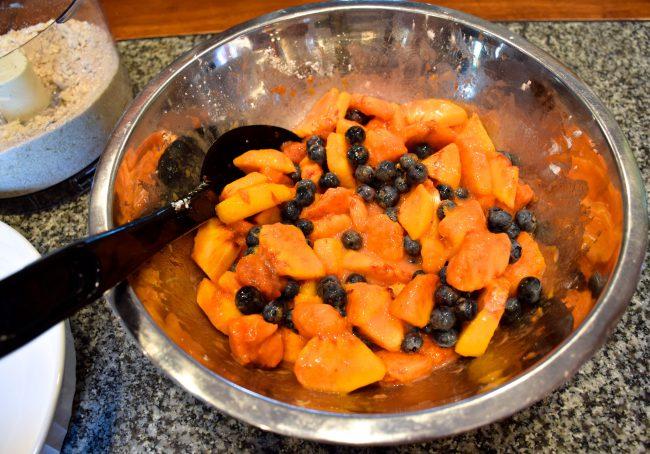 Peach Blueberry Crumble