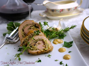 Herb-Stuffed Pork Tenderloin