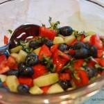 tomato-cucumber-blueberry salad