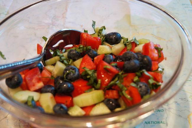 tomato-cucumber-blueberry salad