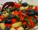 Tomato Cucumber Blueberry Salad