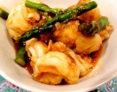 chili shrimp with asparagus