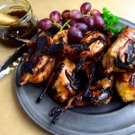 Grilled Quail with Pomegranate and Orange Glaze