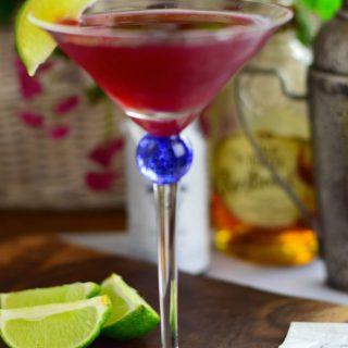Bourbon Riki in a martini glass.