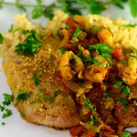 snapper with shrimp creole sauce