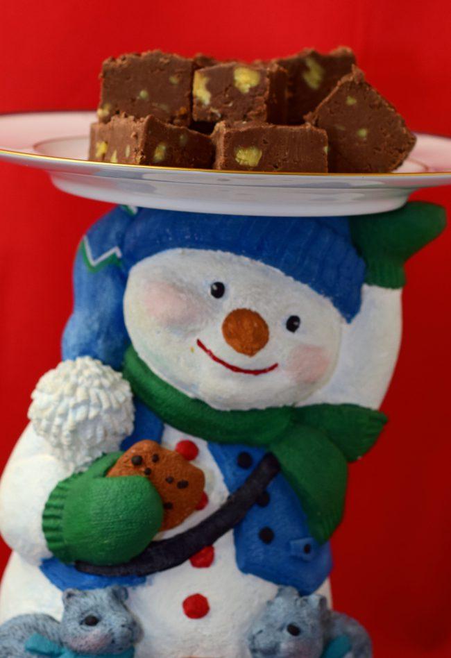 Nana B's Fudge on hand painted snowman