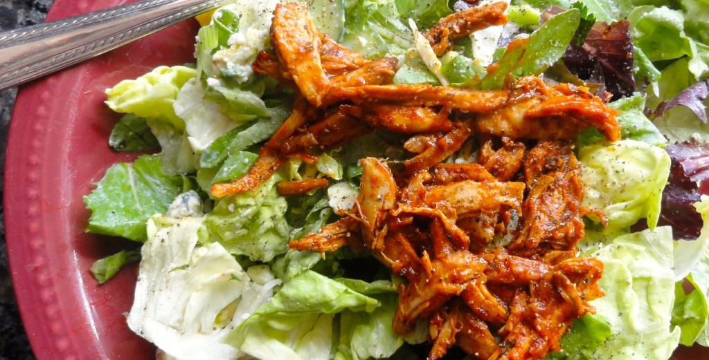 Buffalo chicken salad-done light