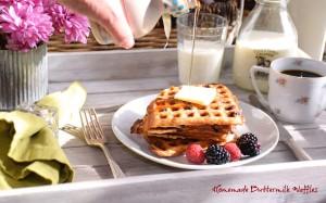 Homemade Buttermilk Waffles