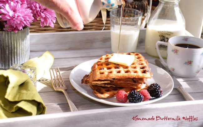 Homemade Buttermilk Waffles