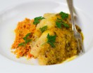 Snapper with Carrot-Curry Sauce over Couscous
