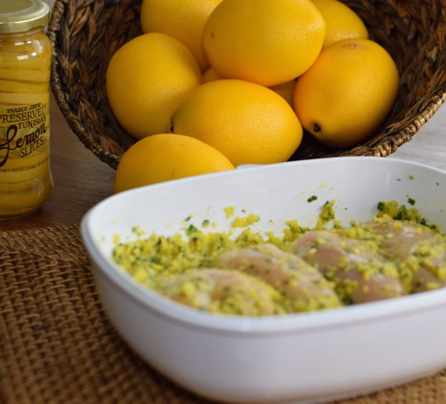 chicken tagine with preserved lemon olives and thyme
