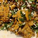 Chorizo and eggs with Crispy Tortilla