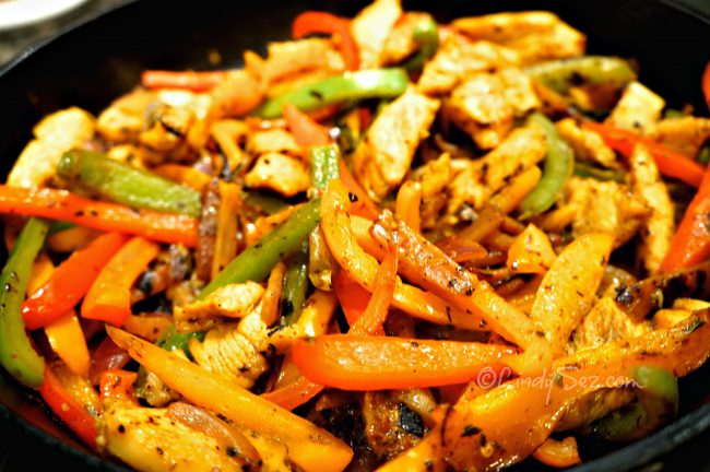 perfect chicken fajitas
