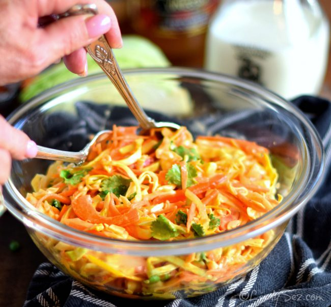 coleslaw with sriracha dressing