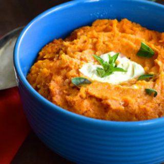 tangerine chipotle sweet potato mash