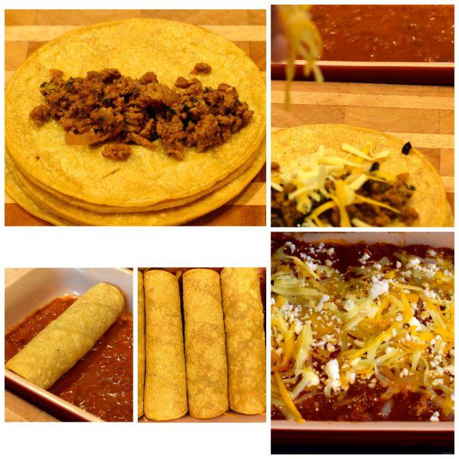 Turkey Enchilada with Homemade Chili Gravy