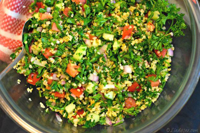 fresh tabouleh salad