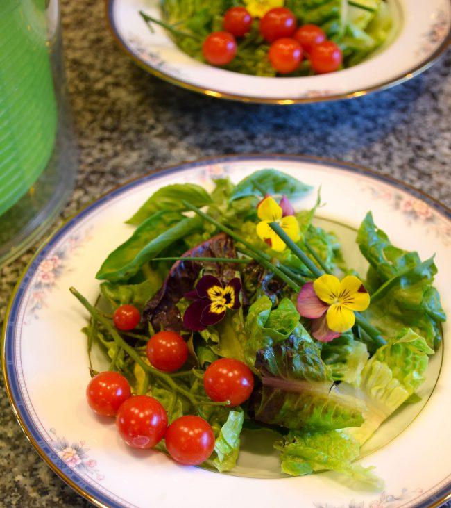 Baby Greens with Light Balsamic Vinaigrette