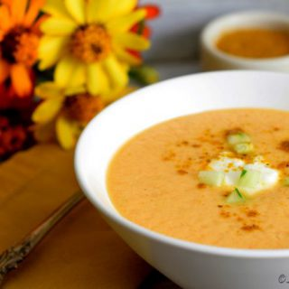 Cold Cantaloupe Curry Soup