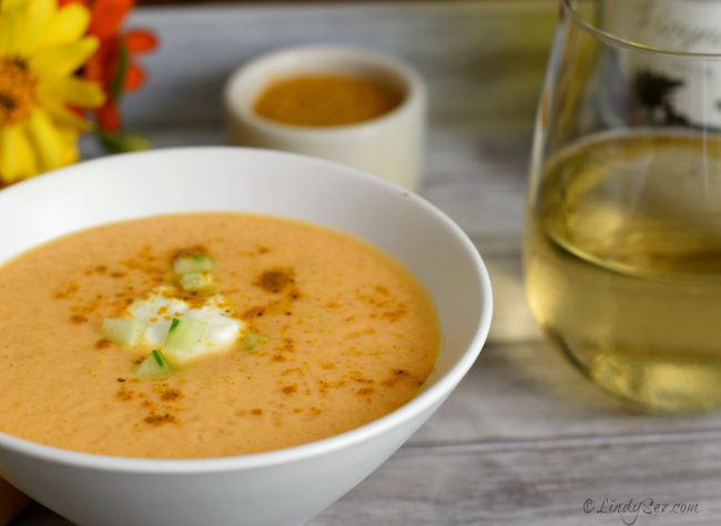 Chilled Cantaloupe Curry Soup