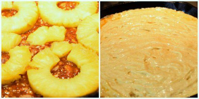 Pineapple Macadamia Nut Upside-down cake