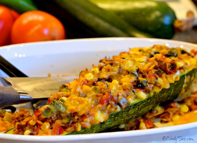 zucchini boats Mexican style