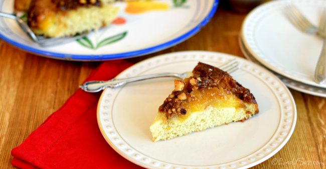 pineapple macadamia-nut upside-down cake