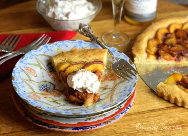 french plum tart