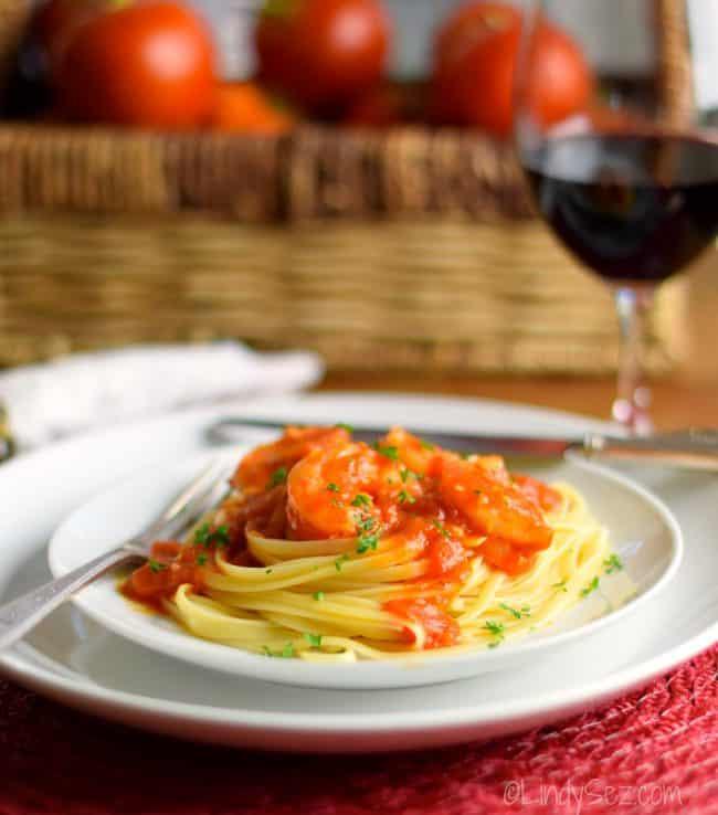 Shrimp in Fresh Spicy Tomato Sauce