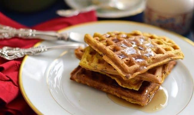 Pumpkin Buttermilk Pecan Waffles | LindySez | Recipes