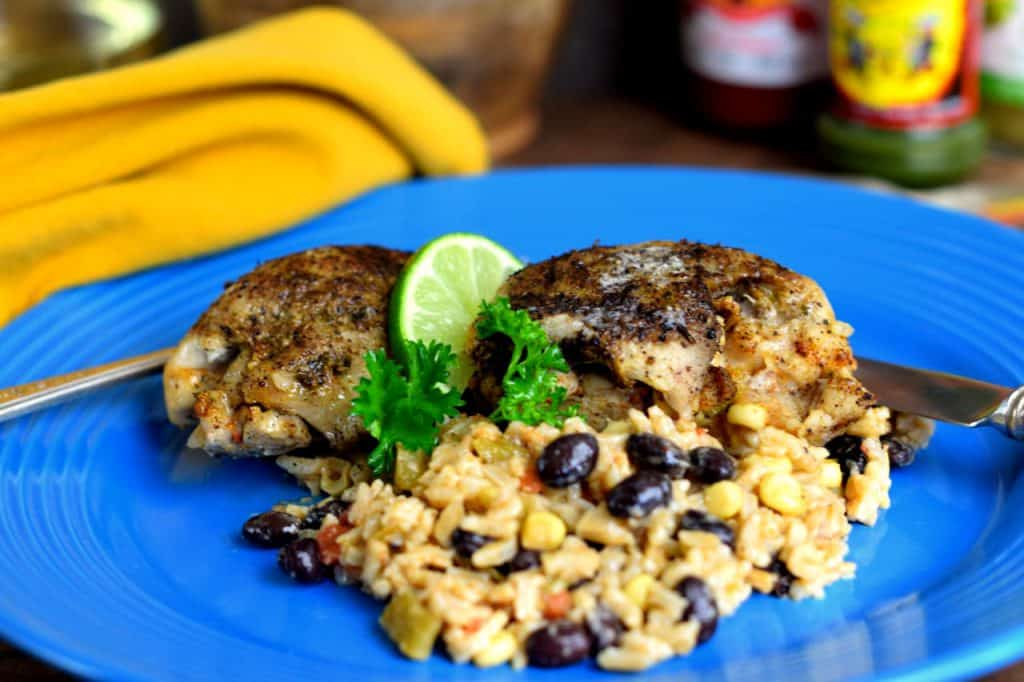 skillet mexican chicken and rice