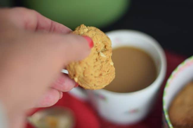 dunking a delicious almond butter cookies your way