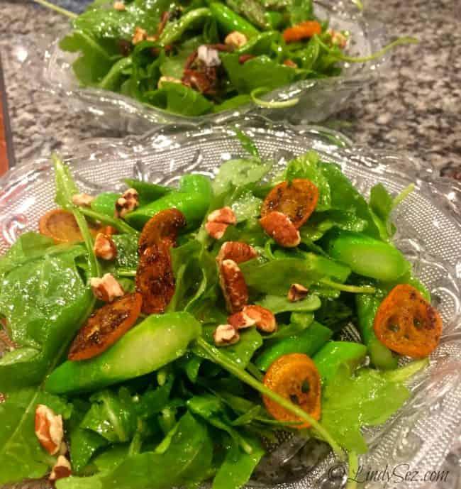 Caramelized Kumquat and Arugula Salad UF