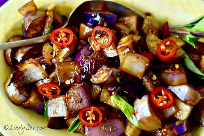 Quick Spicy Thai Style Eggplant