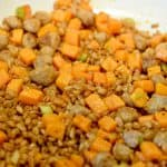 Farro Sweet Potato Breakfast Hash close up