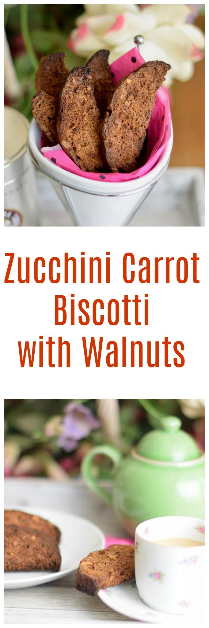 Zucchini Carrot Biscotti with Walnuts
